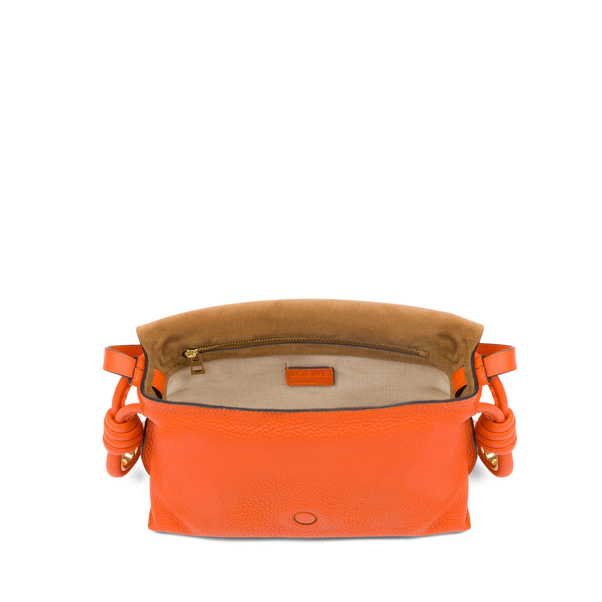 loewe flamenco flap small bag orange all