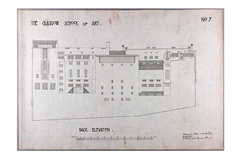 """Design for Glasgow School of Art: elevation of Scott Street and Dalhousie Street"", 1910"