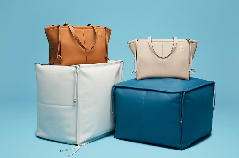 New Cushion Leather Tote