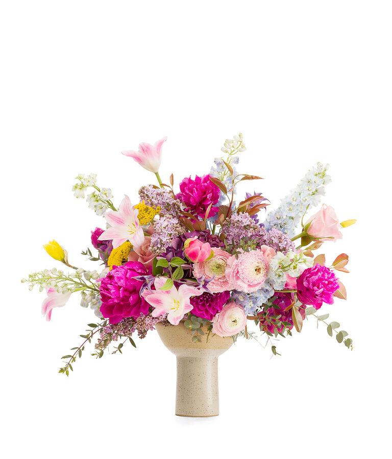 Bouquet y Maceta 250€