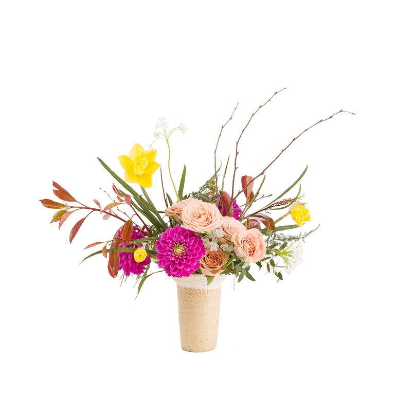 Bouquet y Maceta 75€