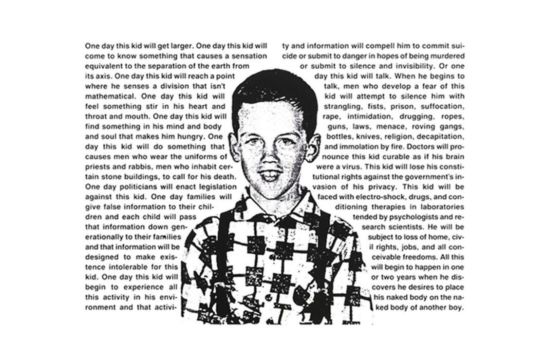 """""""Untitled (One day this kid…)"""" por David Wojnarowicz"""