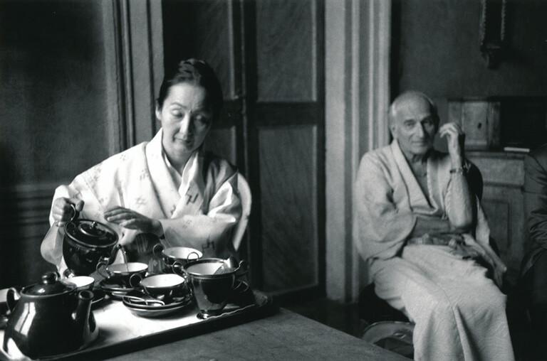 Balthus et sa femme, 1988