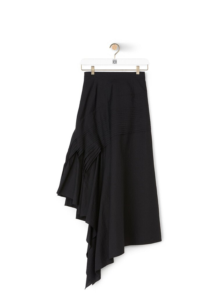 Pleated Side Skirt