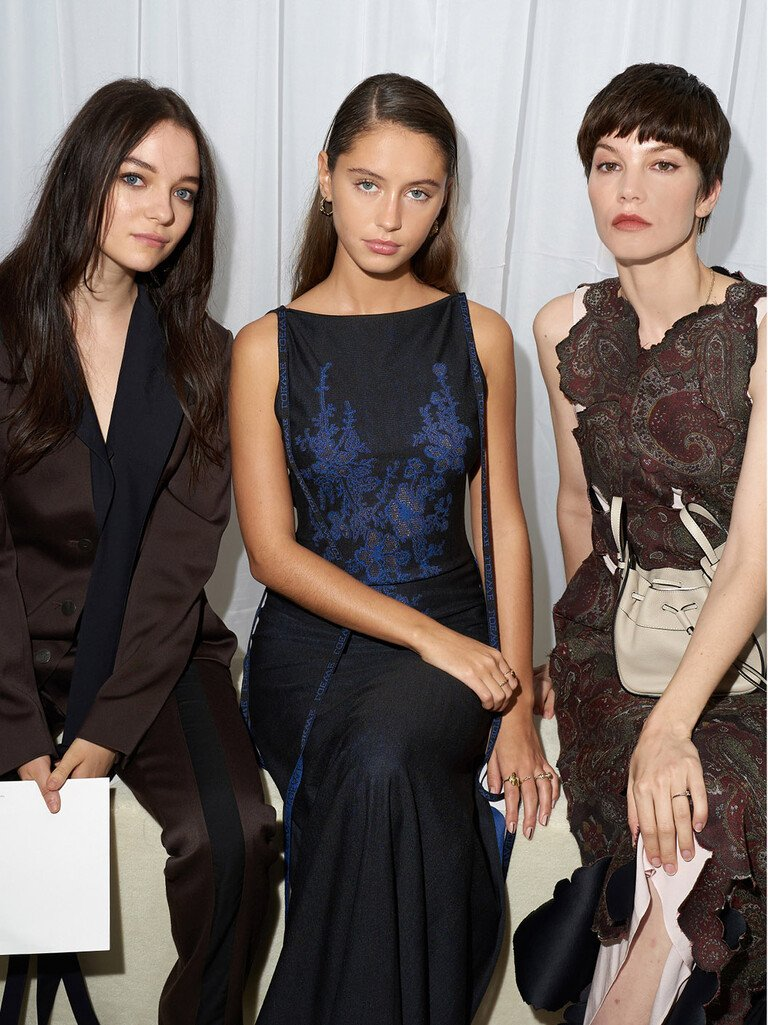 Esme Creed-Miles, Iris Law and Sylvia Hoecks