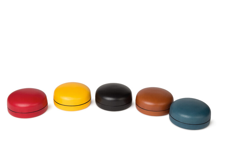 Medium Round Multi-Use Leather Boxes