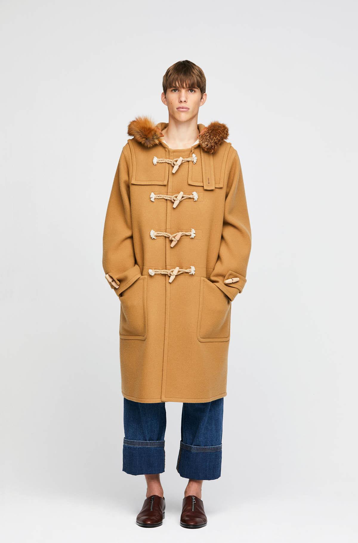 Duffle Coat Fox Trim Hood