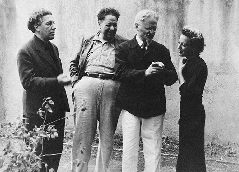Breton, Riveira, Trostky and Jacqueline Lamba in Mexico City, 1938