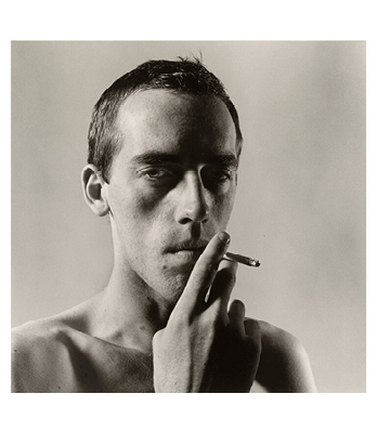 David Wojnarowicz Smoking by Peter Hujar