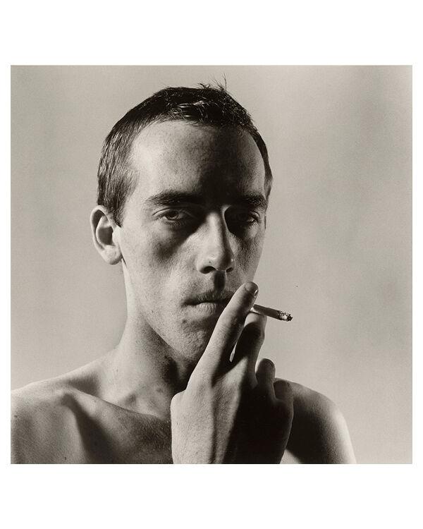 """""""David Wojnarowicz Smoking"""" by Peter Hujar"""