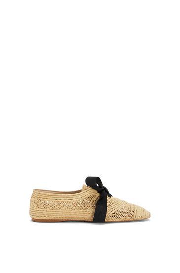 LOEWE Zapato derby en rafia Natural pdp_rd