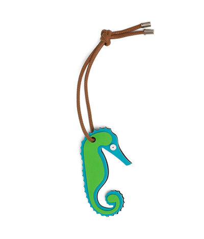 LOEWE Paula Seahorse Charm Blue/Green front