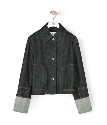 LOEWE Button Jacket 靛藍 front