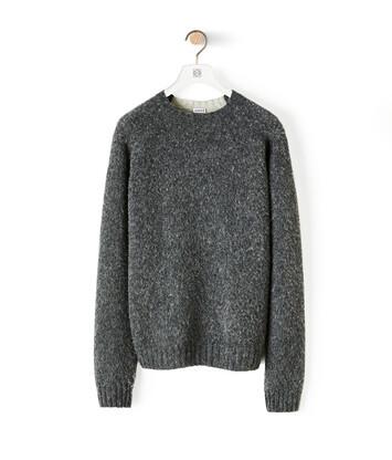 LOEWE Melange Sweater Grey front