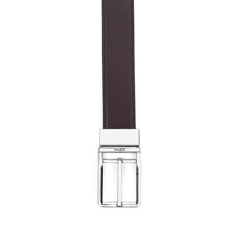 LOEWE Formal belt in calfskin Brown/Black/Palladium pdp_rd