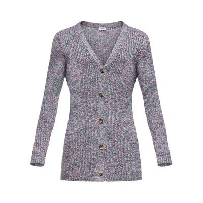 LOEWE Knitted Cardigan 粉色 front