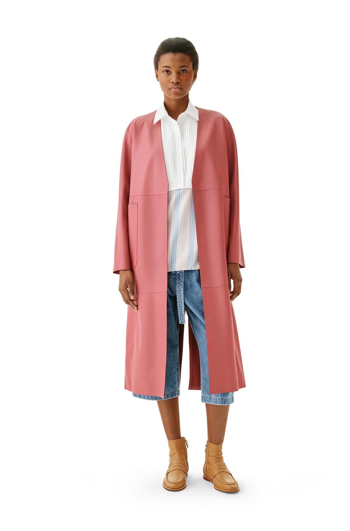 LOEWE Long Coat Pink front
