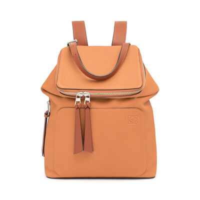 LOEWE Goya Small Backpack Light Caramel/Pecan Color  front