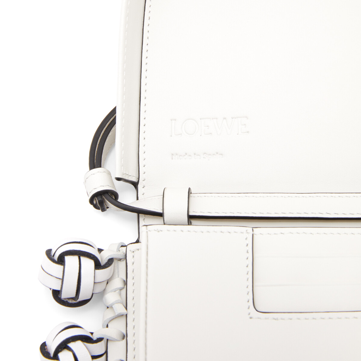 LOEWE Heel Knots Bag Soft White front