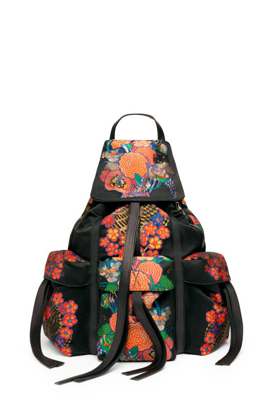 LOEWE Mochila Bouquet Negro/Multicolor all
