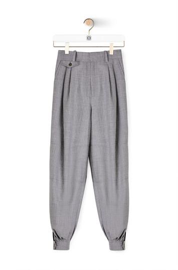LOEWE Cropped Balloon Pants Grey front