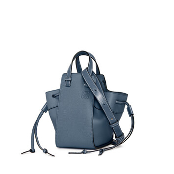 LOEWE Hammock Drawstring Mini Bag Steel Blue front