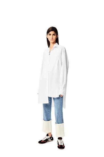 LOEWE 长款棉质不对称衬衫 白色 pdp_rd