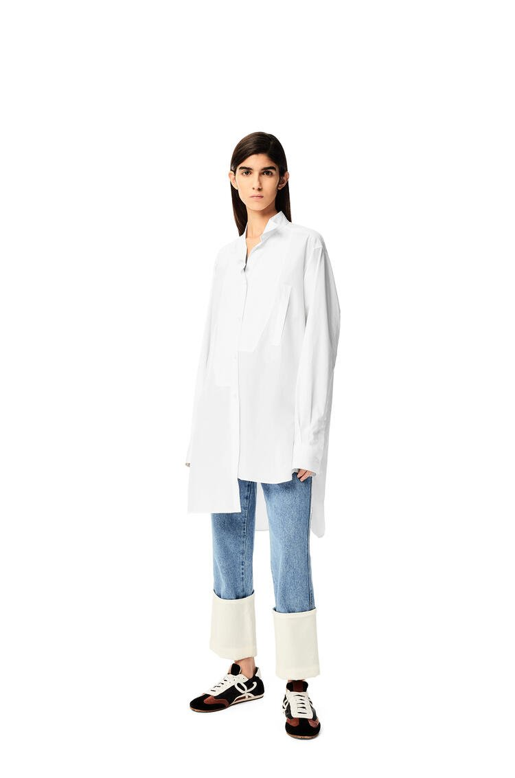 LOEWE Long asymmetric shirt in cotton White pdp_rd