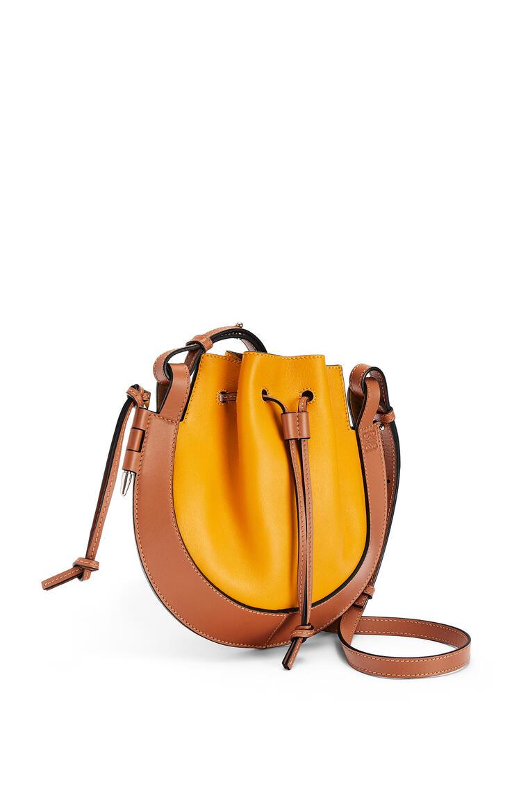 LOEWE Small Horseshoe bag in nappa and calfskin Narcisus Yellow/Tan pdp_rd