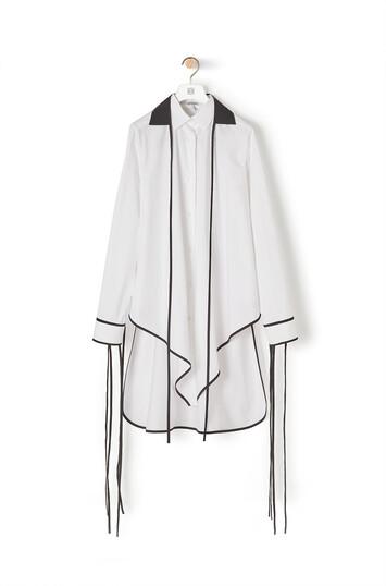 LOEWE Pointed Hem Shirt White front