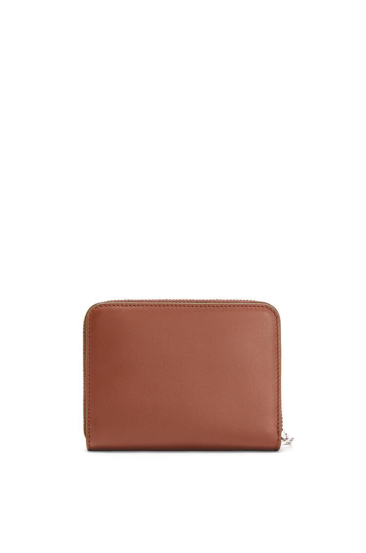 LOEWE 6 Card Zip Wallet In Smooth Calfskin Cognac pdp_rd