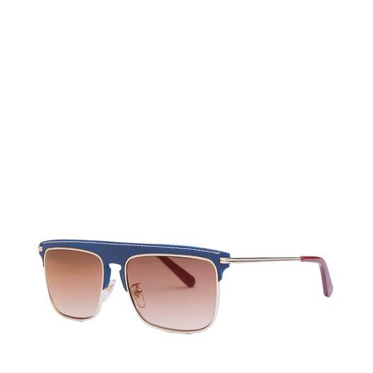 LOEWE Gafas Cuadradas Azul Oscuro/Rojo front