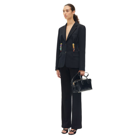 LOEWE Embroidered Knot Jacket Negro all