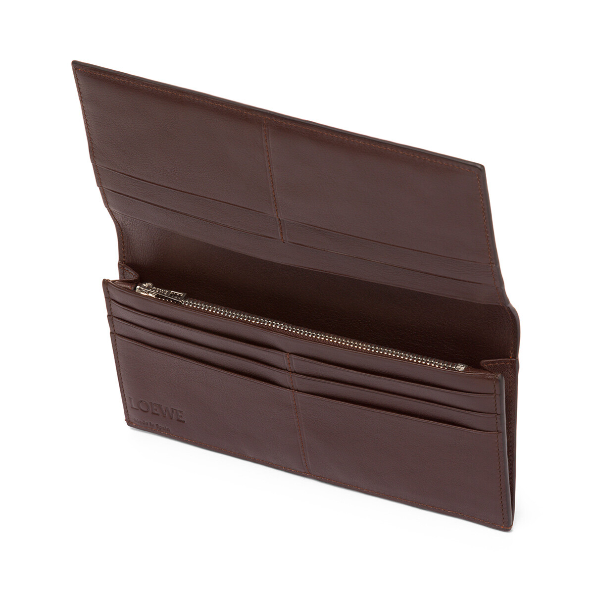 LOEWE Long Horizontal Wallet Ginger/Smoke Grey front