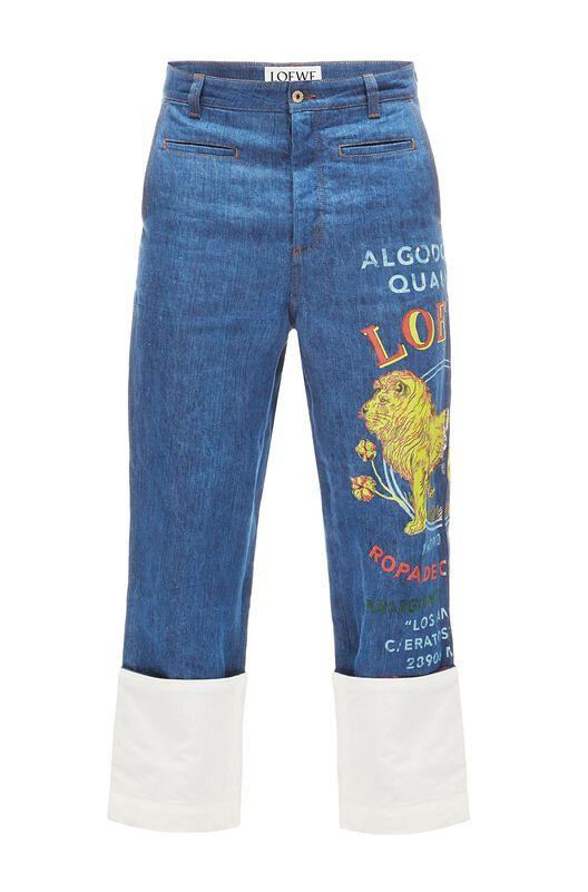 LOEWE Fisherman Trousers El Leon Indigo front