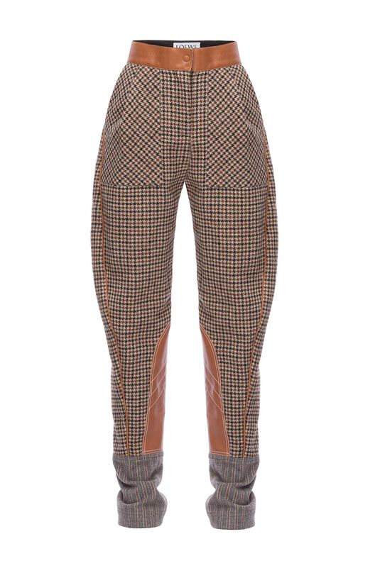 LOEWE Check Carrot Trousers Marron/Bronceado all