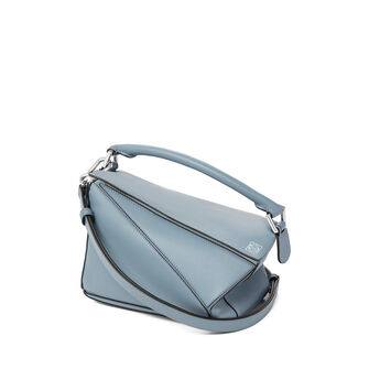LOEWE Bolso Puzzle Small Azul Piedra front