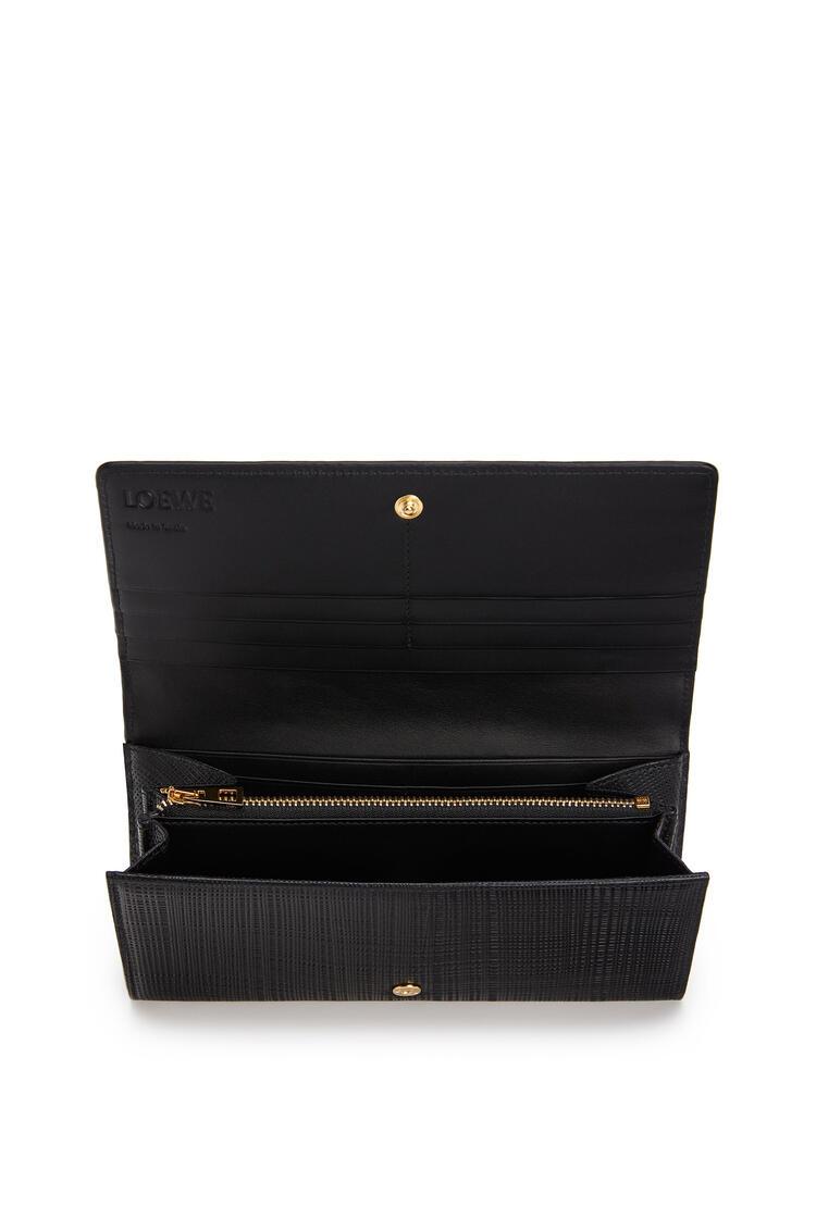 LOEWE Continental wallet in calfskin 黑色 pdp_rd