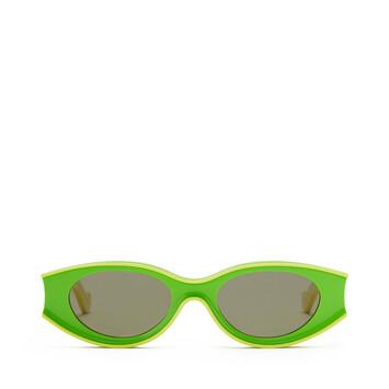 LOEWE Small Paula's Ibiza Sunglasses In Acetate Neon Green/Neon Yellow front
