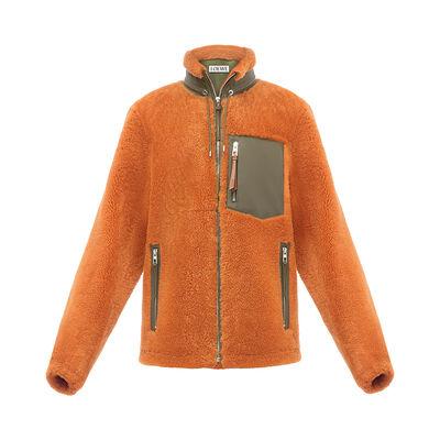 LOEWE Shearling Blouson 橙色 front