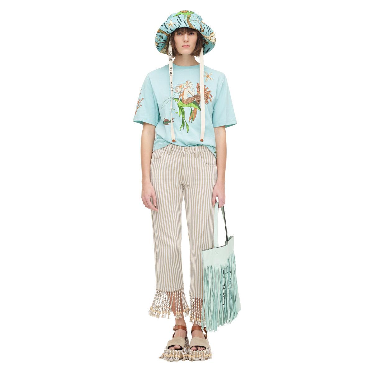 Blue Paulas Ibiza Edition Mermaid Fringe T-Shirt Loewe Sale Explore ifKZGk88W