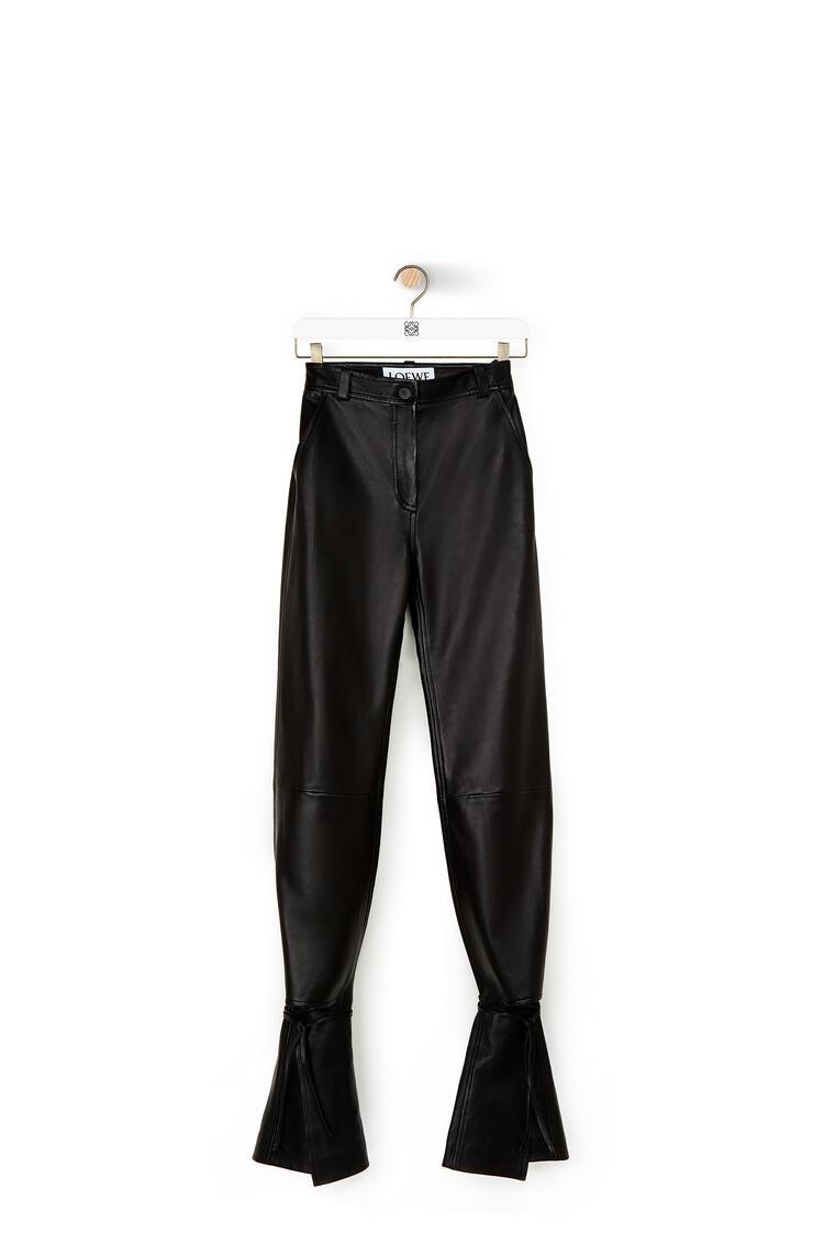 LOEWE Tie cut panel trousers in nappa Black pdp_rd