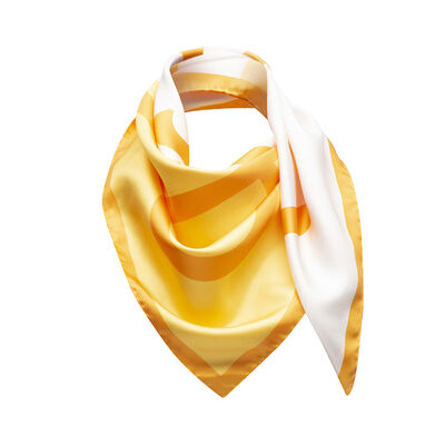 LOEWE 90X90 Scarf Giant Anagram 橘色/白色 front