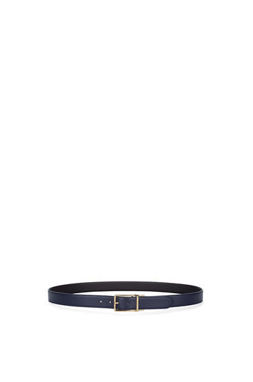 LOEWE Formal belt in calfskin Navy Blue/Black/Gold pdp_rd