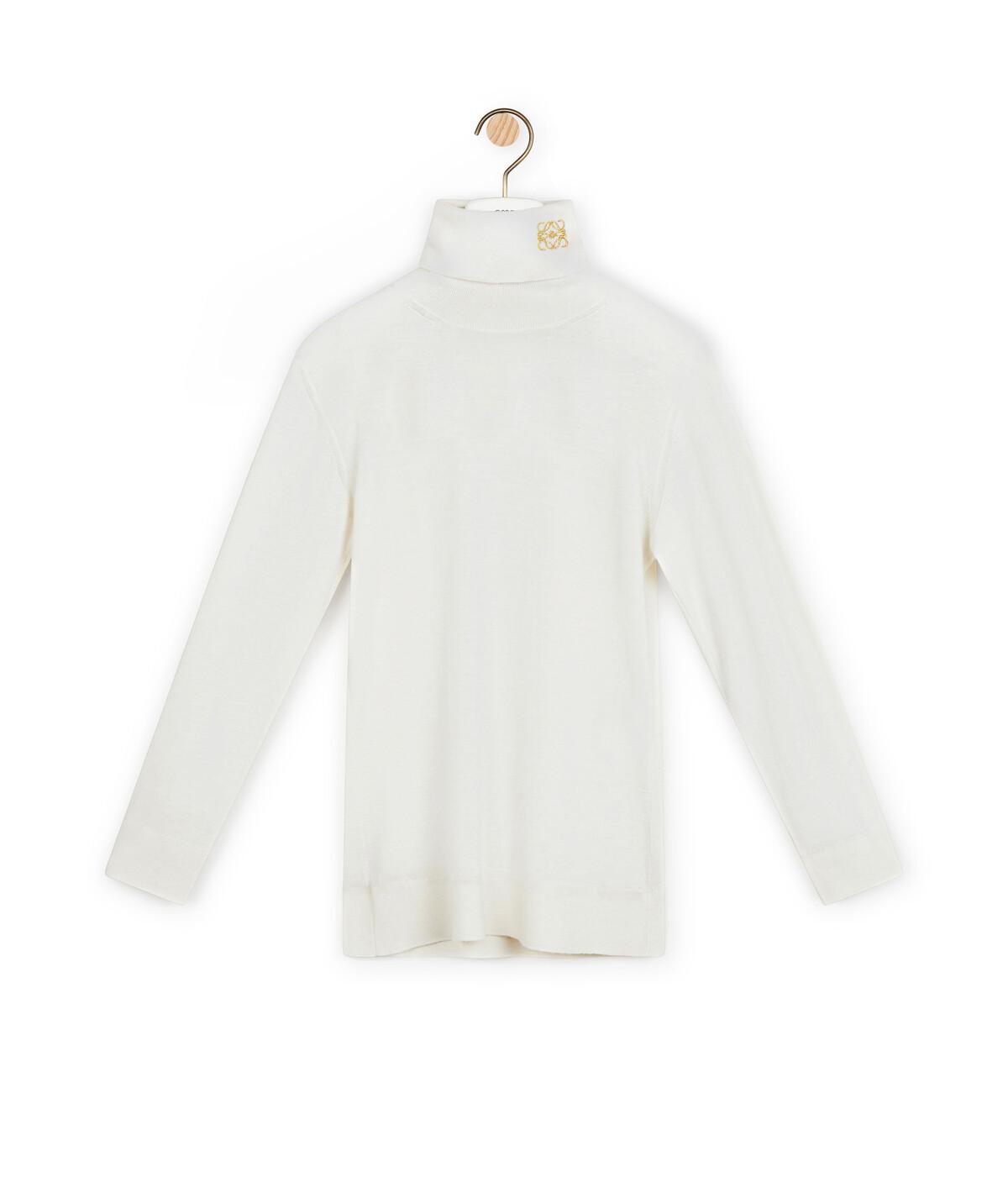 LOEWE Anagram Turtleneck Sweater Ecru front
