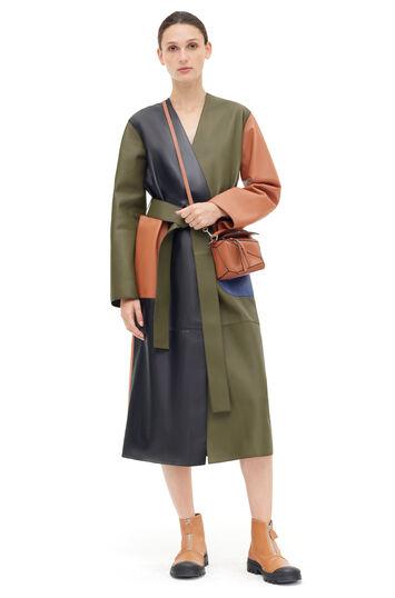 LOEWE Coat Tan/Green front