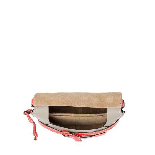 LOEWE ゲート スモール バッグ Soft White/Light Grey/Red all