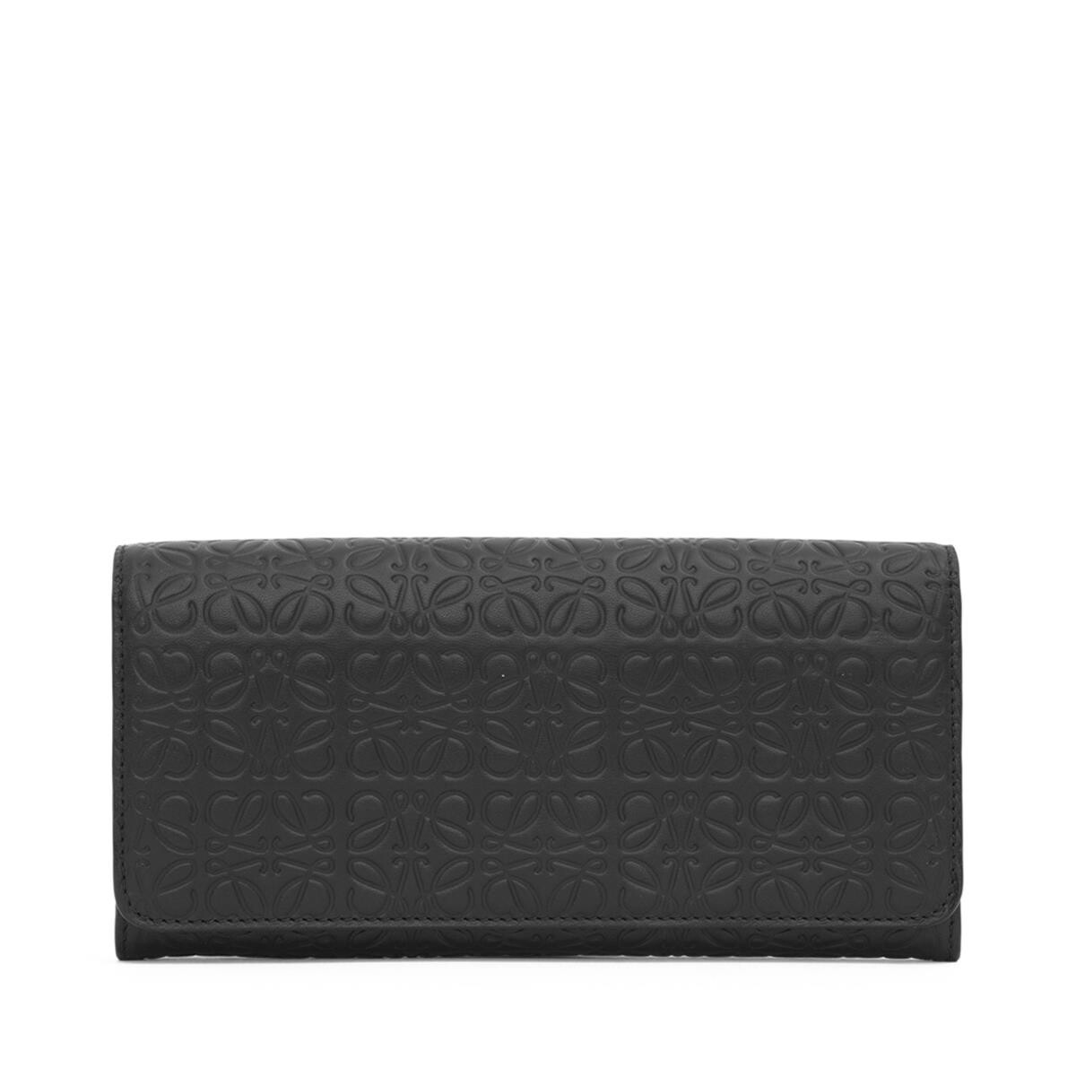 LOEWE Repeat Continental Wallet Black front