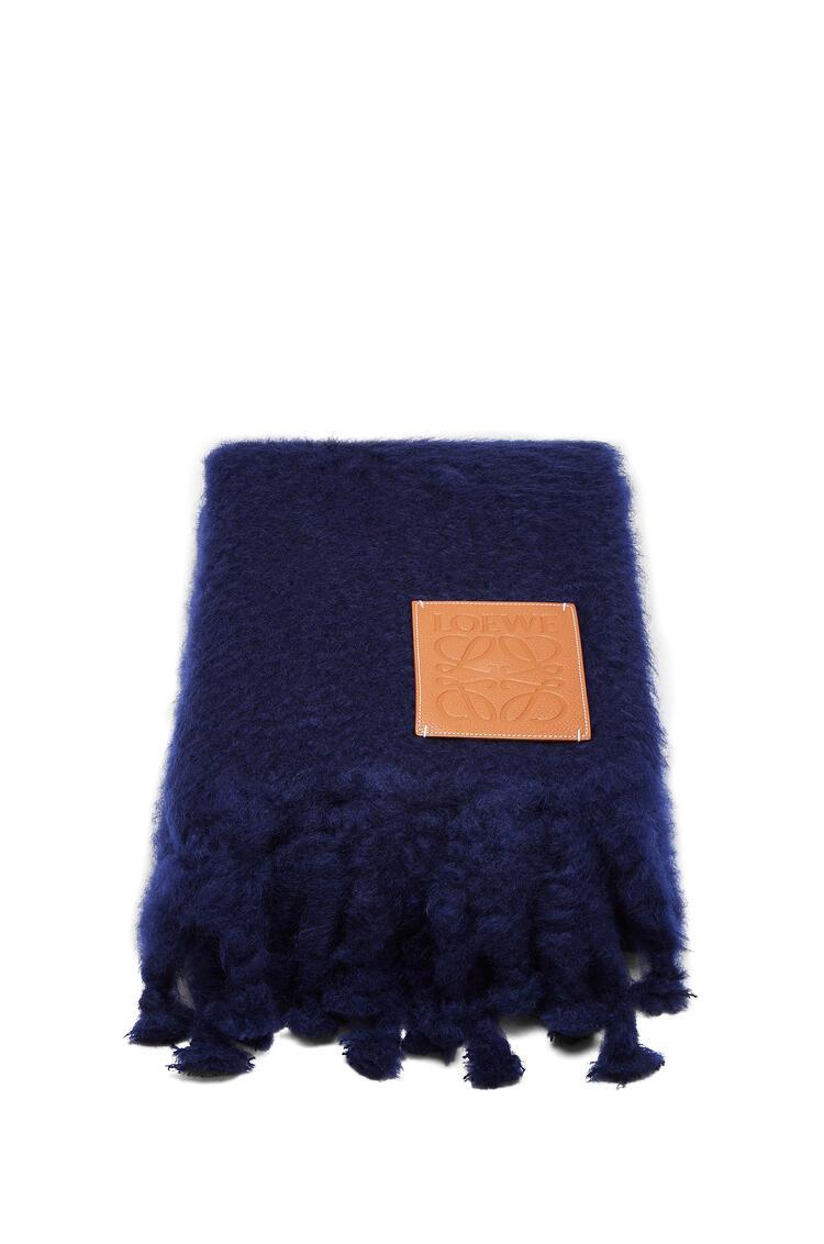 LOEWE 130x200 Blanket Loewe Patch Navy Blue pdp_rd
