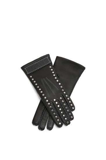 LOEWE Studded gloves in deerskin Black pdp_rd